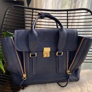 3.1 Phillip Lim pashli satchel navy blue medium